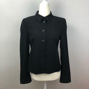 Akris Punto Black Wool Tailored Blazer